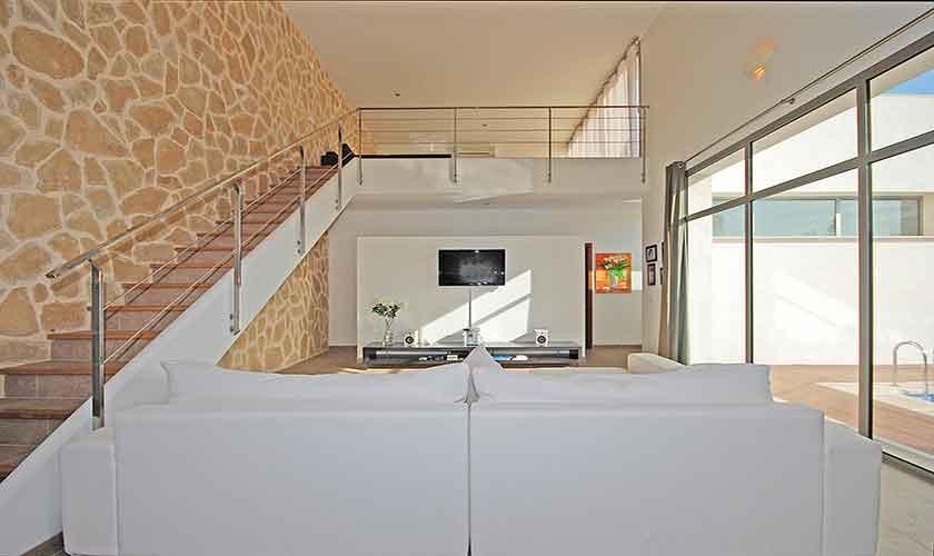 Wohnraum Ferienhaus Mallorca Norden PM 3223