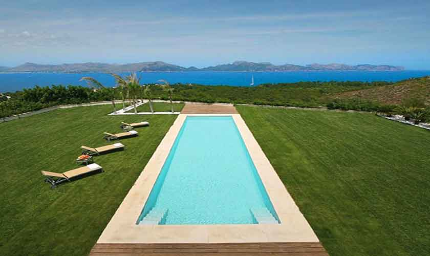 Pool und Meerblick Luxusvilla Mallorca Norden PM 3300