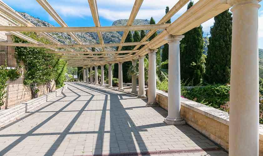 Säulenterrasse  Luxusfinca Mallorca PM 3300