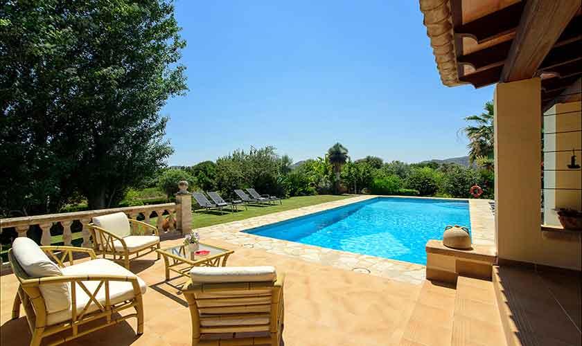 Pool und Terrasse Finca Mallorca Norden PM 3407