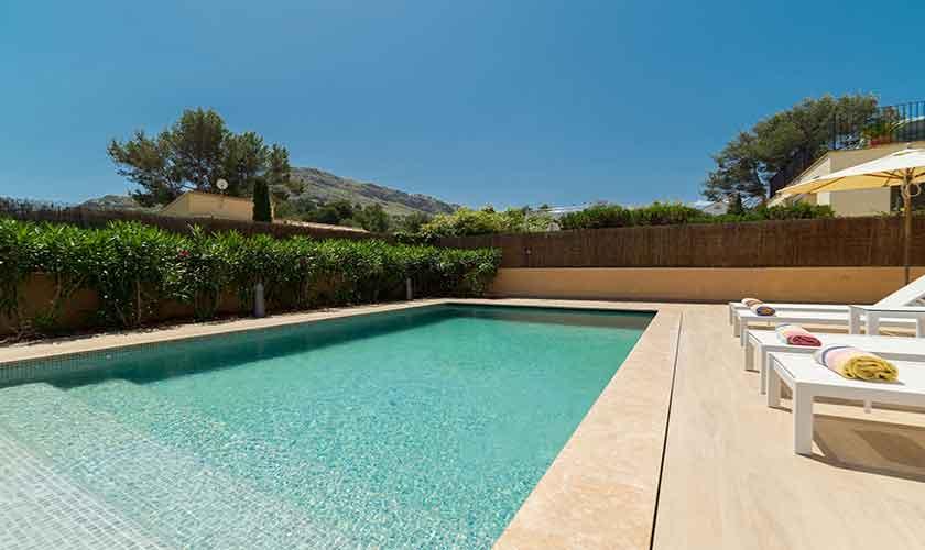 Pool der Ferienvilla Mallorca Norden PM 3410