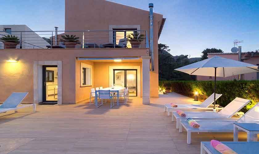 Terrasse Ferienvilla Mallorca Norden PM 3410