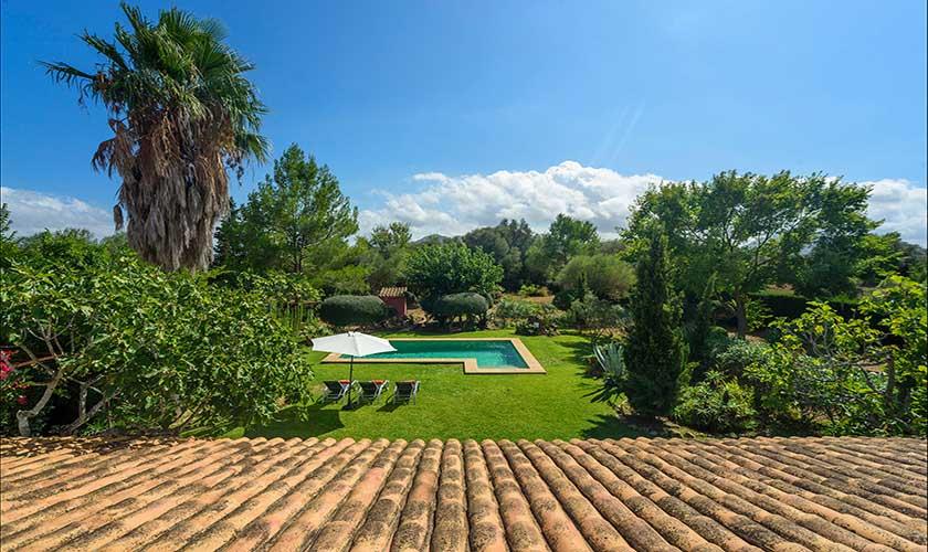 Blick von oben Finca Mallorca PM 3415