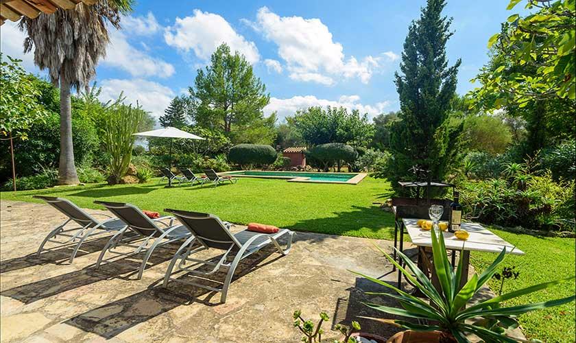 Pool und Liegen Finca Mallorca PM 3415