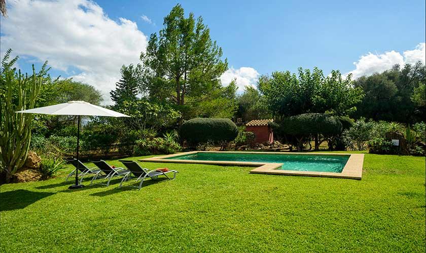 Garten und Liegen Finca Mallorca PM 3415