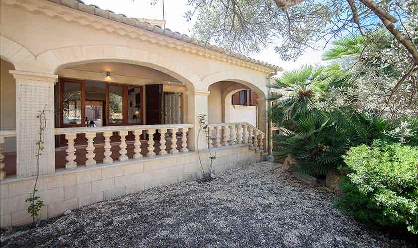 Blick auf das Ferienhaus Mallorca Norden PM 3415