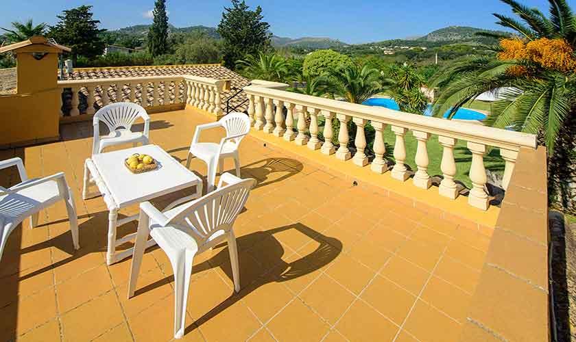 Dachterrasse Finca Mallorca für 4-5 Personen PM 3418
