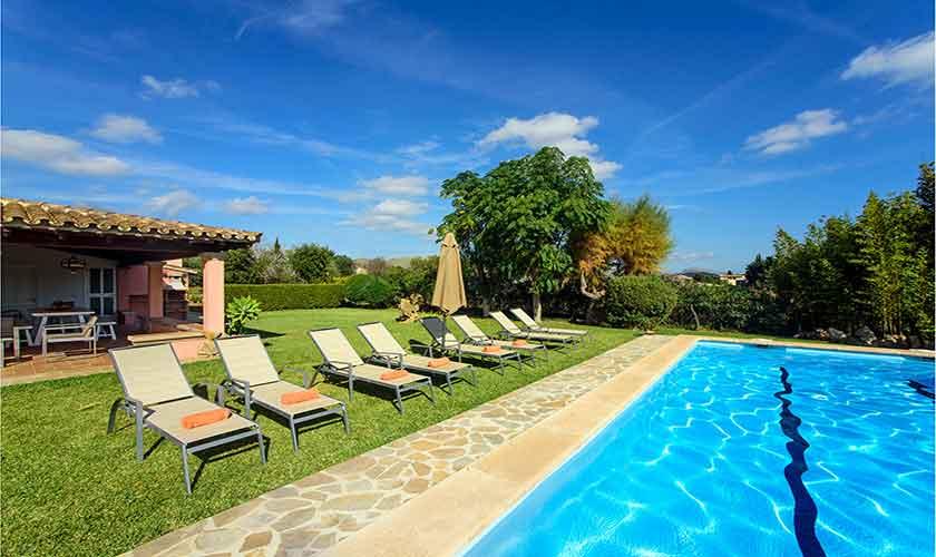 Pool und Garten Finca Mallorca 8 Personen PM 3422