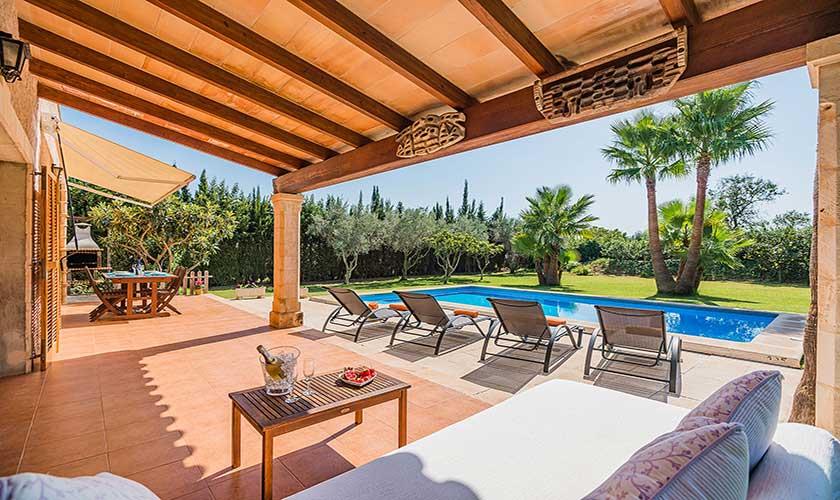 Terrasse Ferienfinca Mallorca PM 3425
