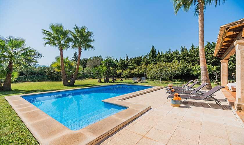 Pool und Terrasse Ferienfinca Mallorca PM 3425