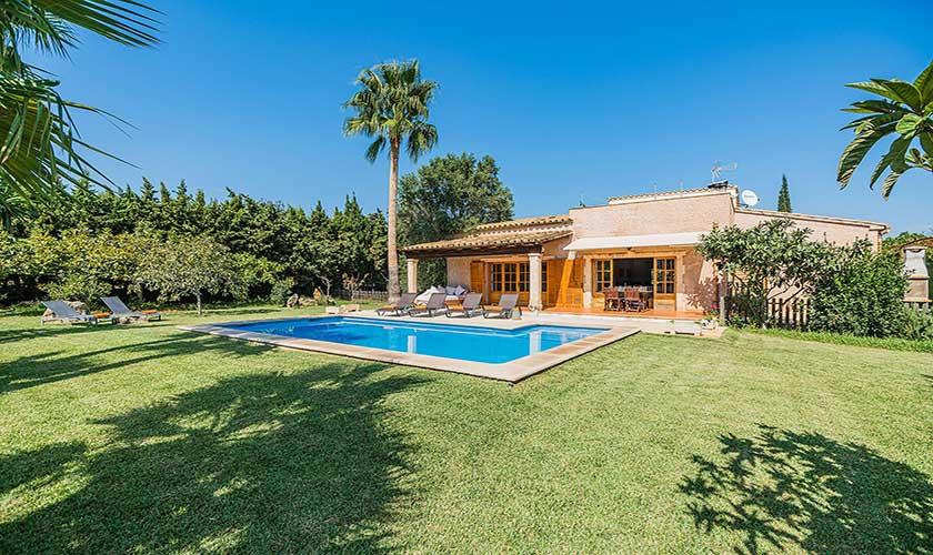 Garten und Pool Ferienfinca Mallorca PM 3425