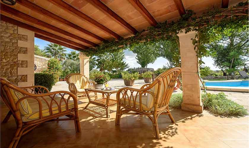 Überdachte Terrasse Finca Mallorca 10 Personen PM 3430