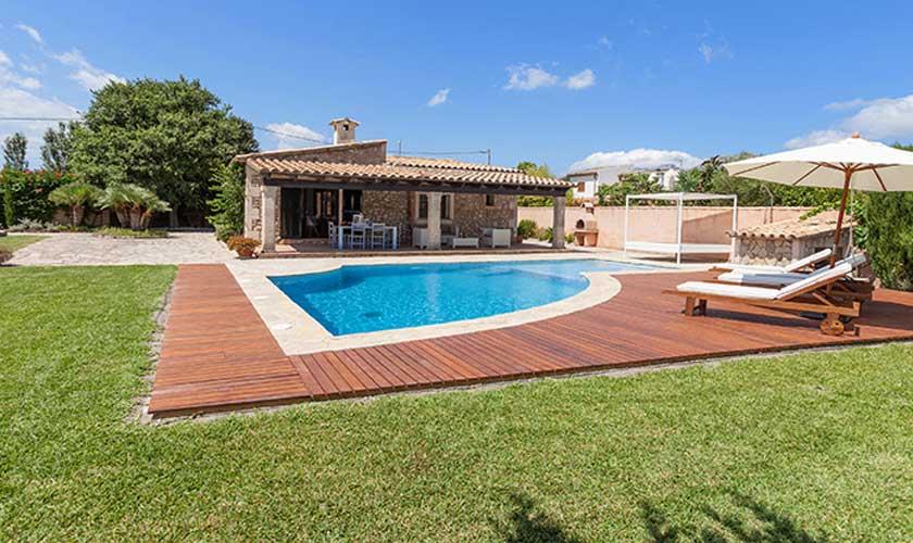 Blick auf die Finca Mallorca 6 Personen PM 3502