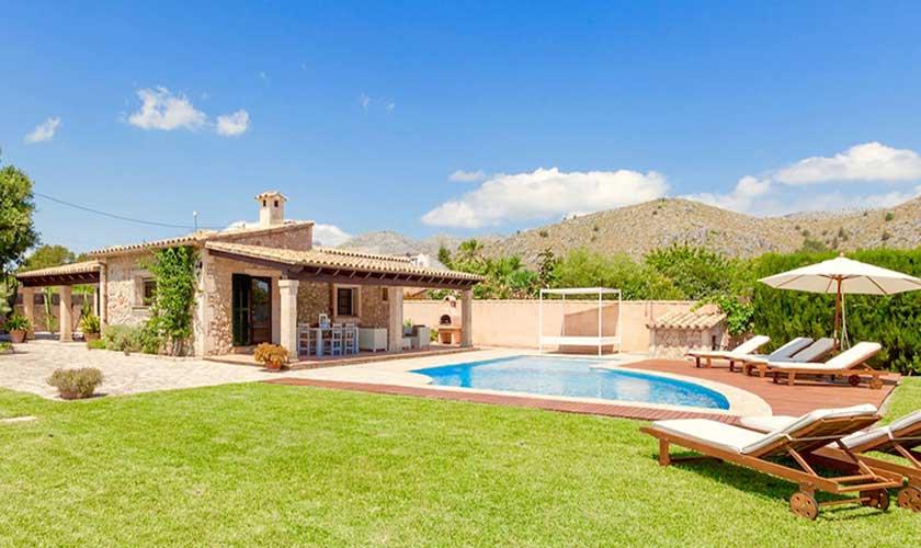 Pool und Garten Finca Mallorca 6 Personen PM 3502