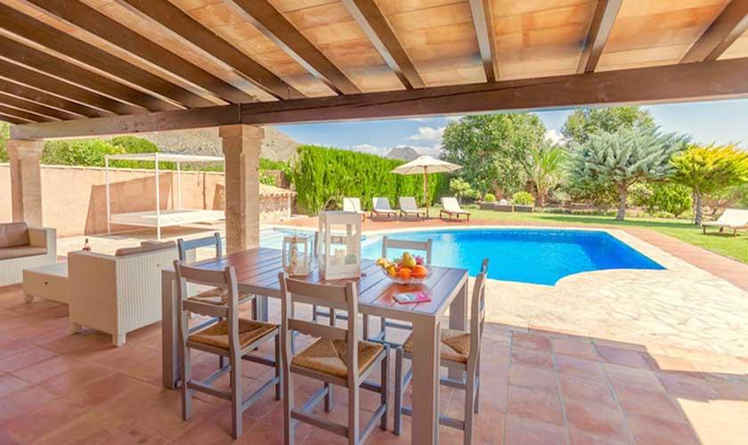 Pool und Terrasse Finca Mallorca 6 Personen PM 3502