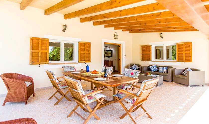 Überdachte Terrasse Finca Mallorca PM 3504