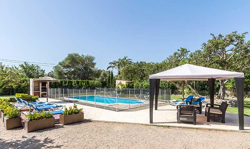 Pool umzäunt Finca Mallorca PM 3504