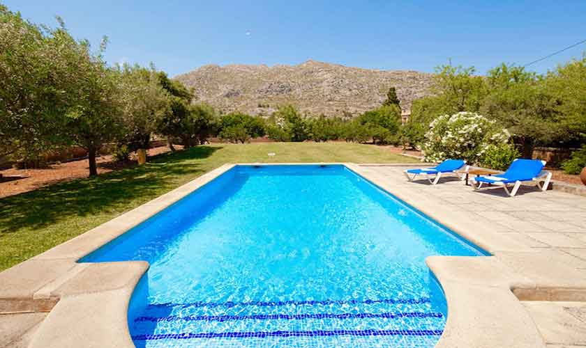 Poolblick Finca Mallorca Norden PM 3521