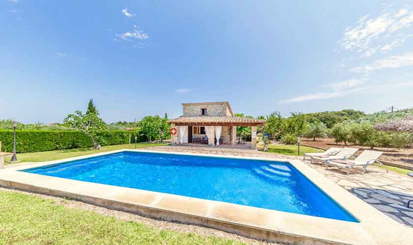Poolblick und Finca Mallorca Norden PM 3522