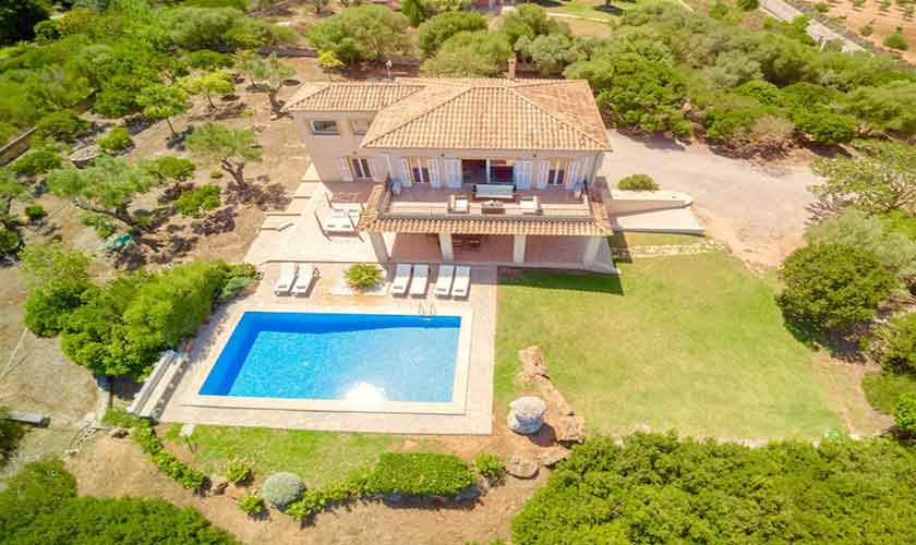 Blick auf das Ferienhaus Mallorca Norden PM 3524