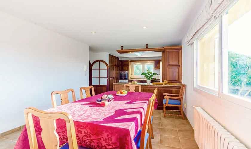 Esstisch Ferienhaus Mallorca Norden PM 3524