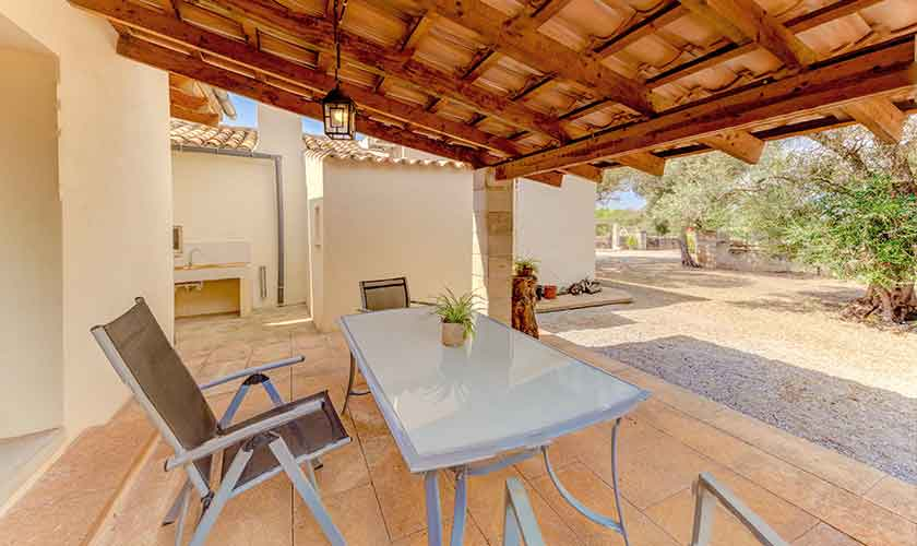Terrasse Finca Mallorca bei Santa Margalida PM 3525