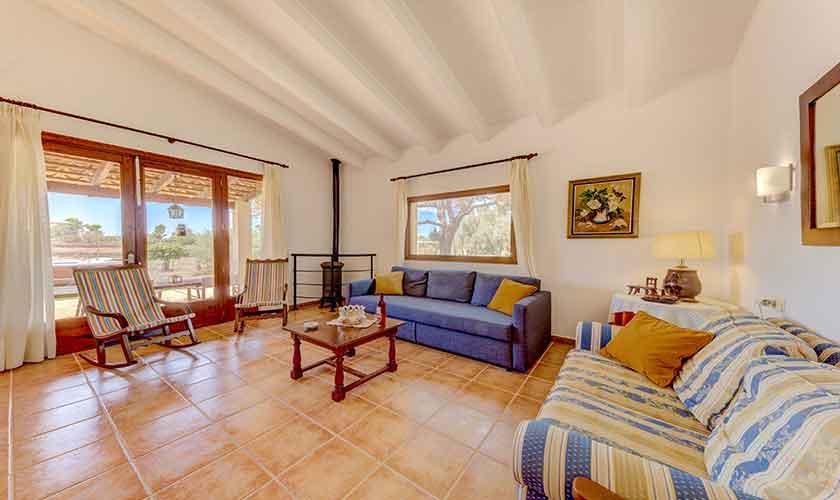 Wohnraum Finca Mallorca bei Santa Margalida PM 3525
