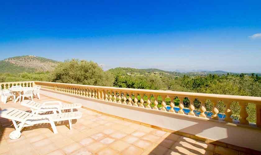 Blick in die Landschaft Finca Mallorca Norden PM 3526