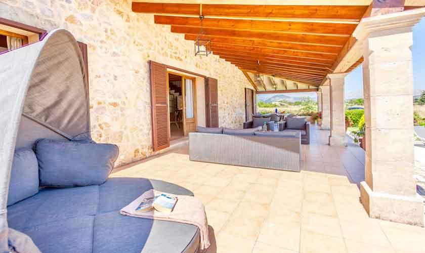 Lounge Terrasse Finca Mallorca für 8 Personen PM 3527