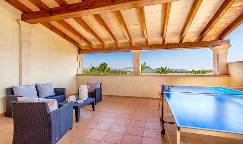 Tischtennis Terrasse Finca Mallorca für 8 Personen PM 3527