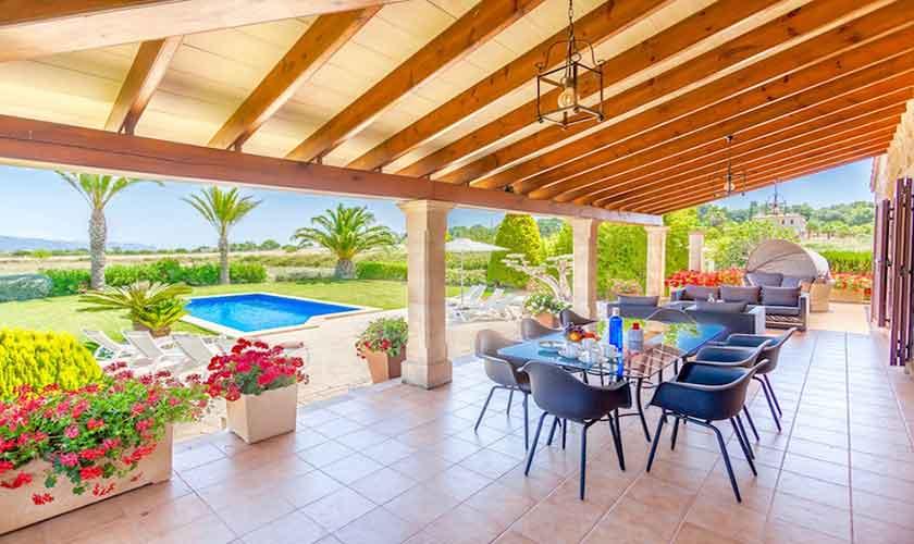 Essplatz Terrasse Finca Mallorca für 8 Personen PM 3527