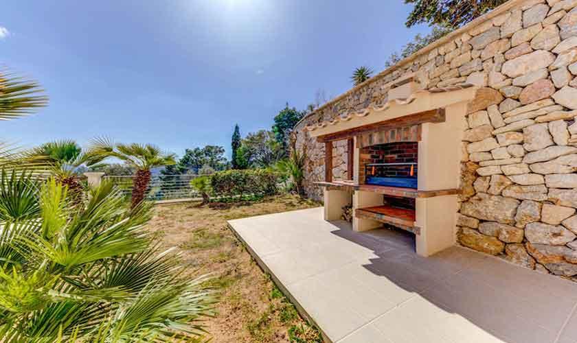Barbecue Poolvilla Meerblick Mallorca Norden PM 3529