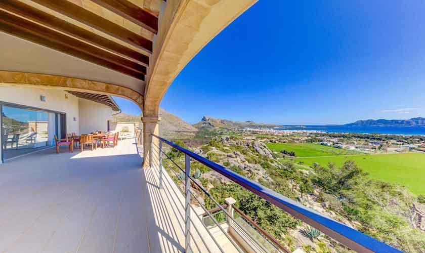 Meerblick und Terasse Villa Mallorca Norden PM 3529