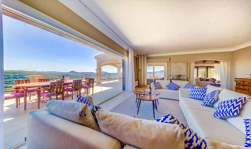 Wohnraum Poolvilla Mallorca Norden PM 3529