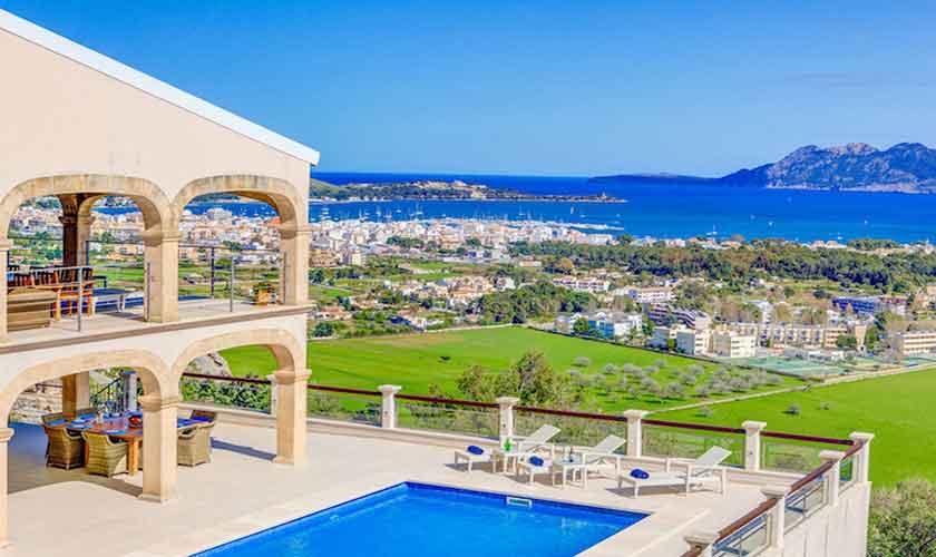 Meerblick und Pool Villa Mallorca Norden PM 3529