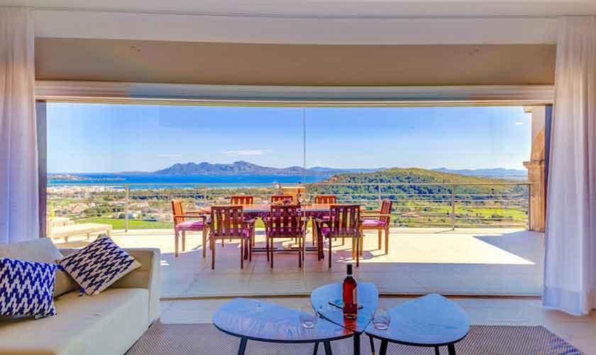 Meerblick und Terrasse Villa Mallorca Norden PM 3529