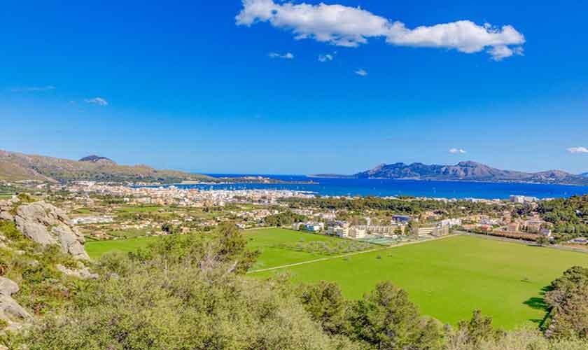 Landschaft und Meerblick Villa Mallorca Norden PM 3529