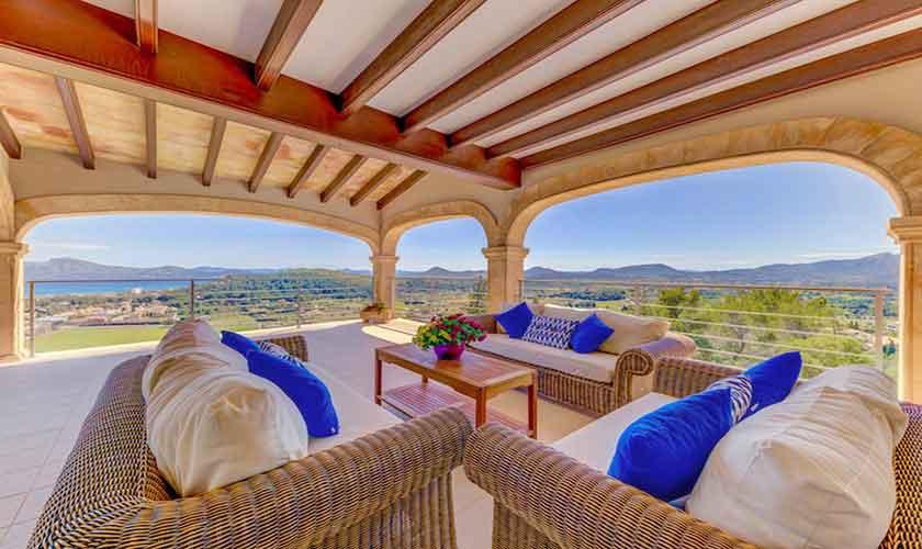 Terrasse Villa Mallorca Norden PM 3529