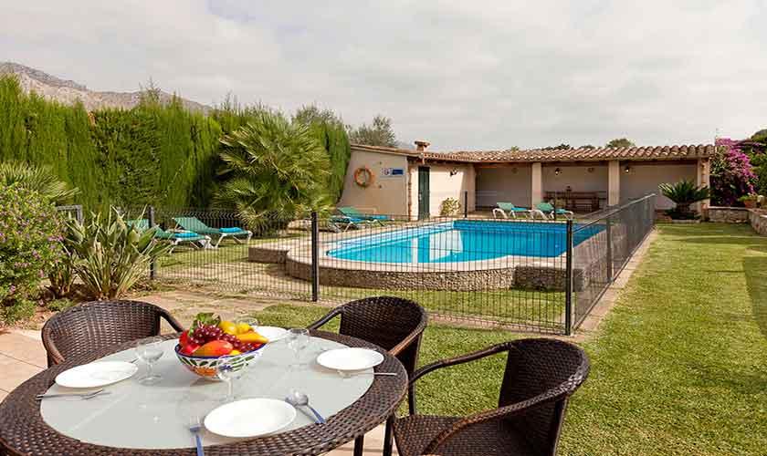 Pool und Garten Mallorca Finca PM 353