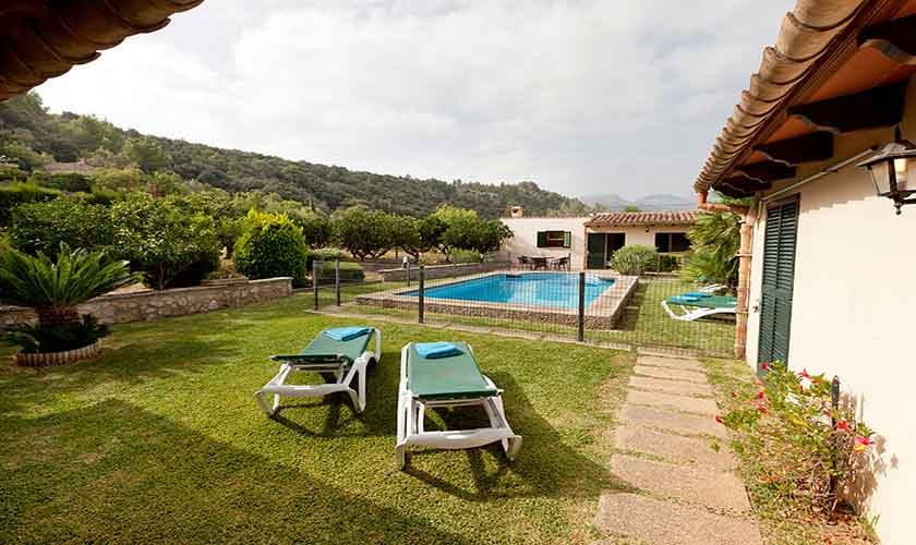 Terrasse und Garten Finca Mallorca PM 353