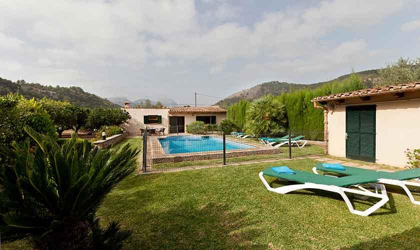 Poollick und Garten Mallorca Finca PM 353