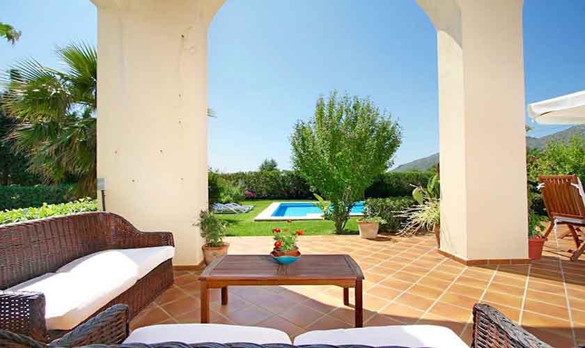 Terrasse Ferienhaus Mallorca bei Alcudia PM 3530