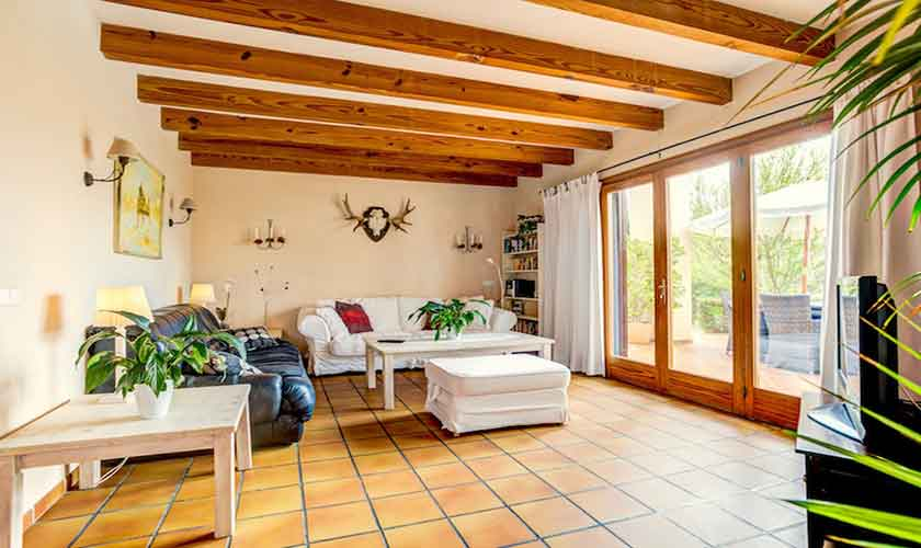 Wohnraum Ferienhaus Mallorca bei Alcudia PM 3530