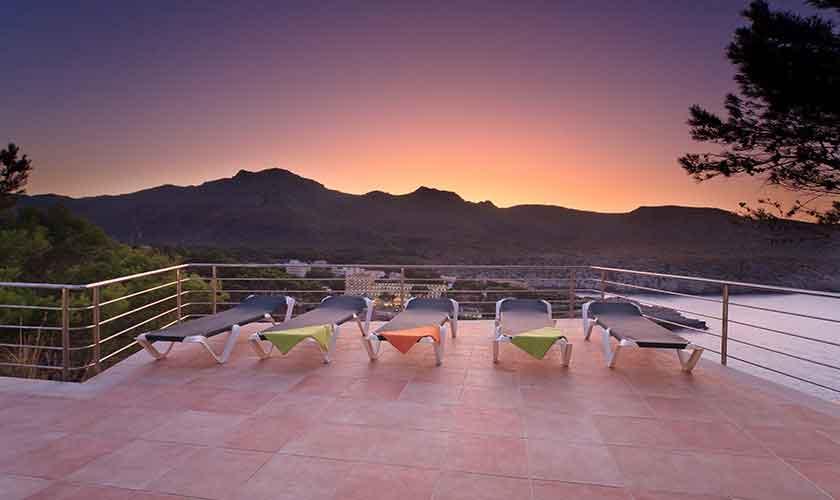 Meerblick und Sonnenuntergang Ferienvilla Mallorca PM 3532