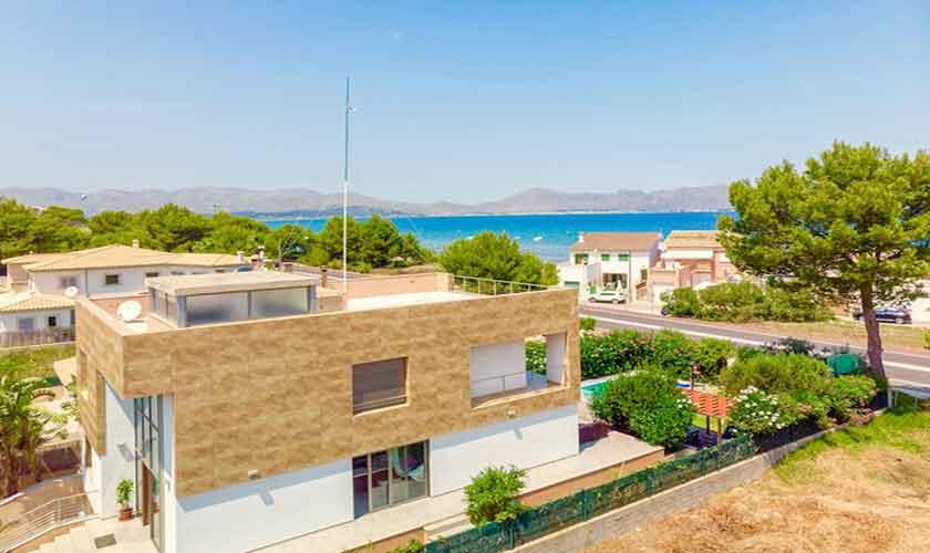 Blick auf das Ferienhaus Mallorca bei Alcudia PM 3533