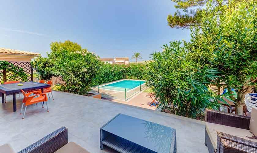 Obere Terrasse Ferienhaus Mallorca bei Alcudia PM 3533
