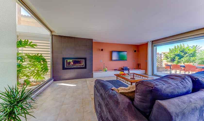 Wohnraum Ferienhaus Mallorca bei Alcudia PM 3533
