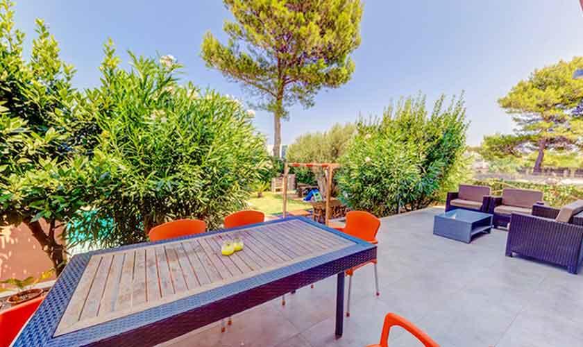 Terrasse oben Ferienhaus Mallorca bei Alcudia PM 3533