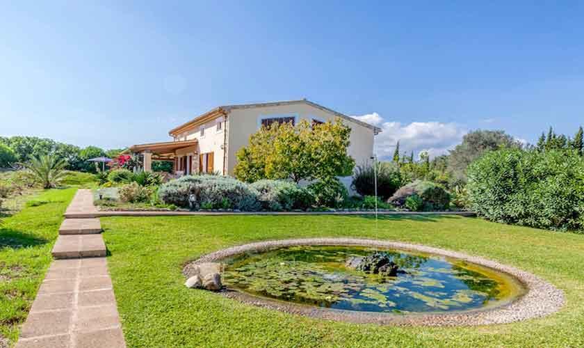 Garten und Teich Finca Mallorca für 8 Personen PM 3534
