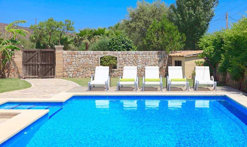 Pool und Liegen Finca Mallorca PM 3535